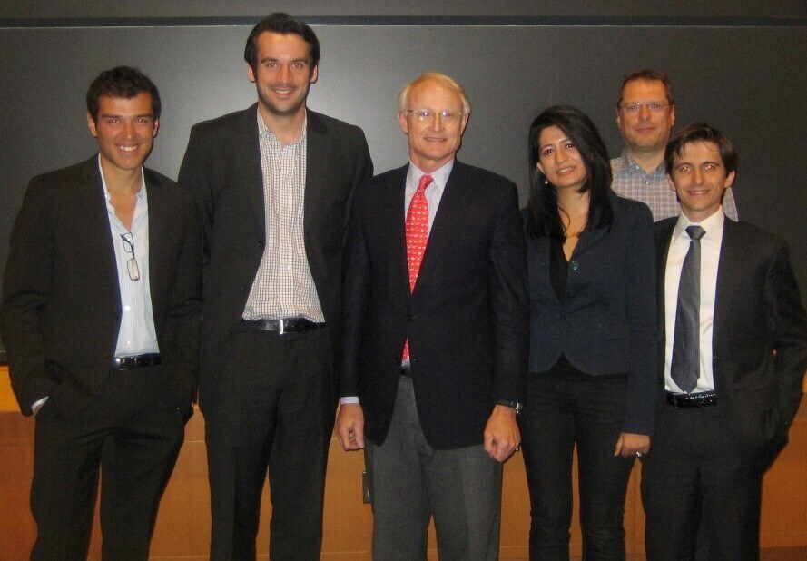 Tronci with Prof. Michael Porter (HBS)
